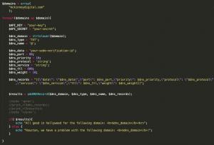 GoDaddy API DNS Record Change Tutorial Code